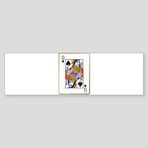 Queen Spades Bumper Sticker