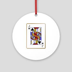 Joker Spades Round Ornament