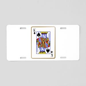 King Spades Aluminum License Plate