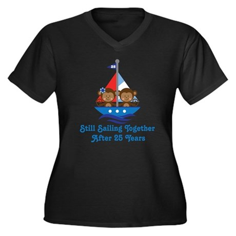 25th Anniversary Sailing Plus Size T-Shirt