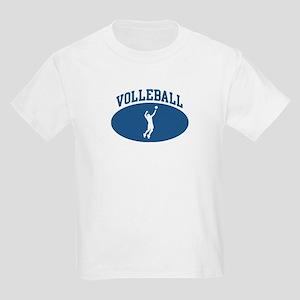 Mens Volleyball (blue circle) Kids Light T-Shirt