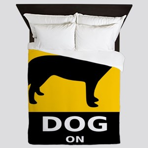 Dog On Board Queen Duvet