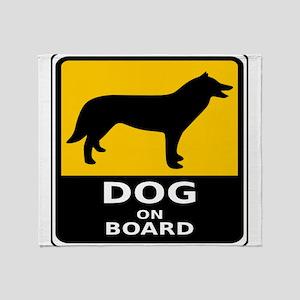 Dog On Board Throw Blanket