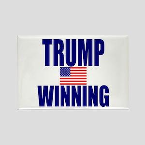 Trump winning Rectangle Magnet