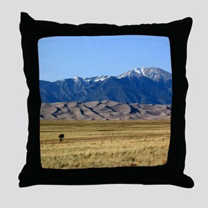 Great Sand Dunes Colorado with Sangre Throw Pillow