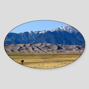 Great Sand Dunes Colorado with Sangre de C Sticker