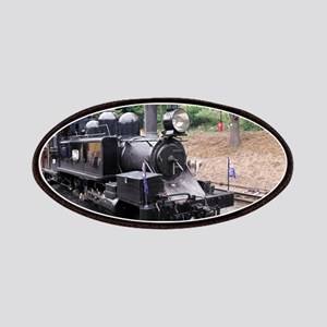 Old Fashioned Black Steam Train Patch