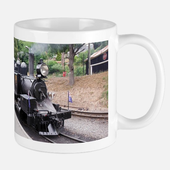 Old Fashioned Black Steam Train Mug