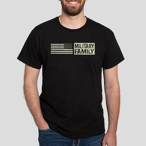 U.S. Military: Military Family (Black Flag) T-Shir