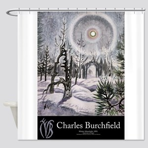 Burchfield Large Poster Shower Curtain