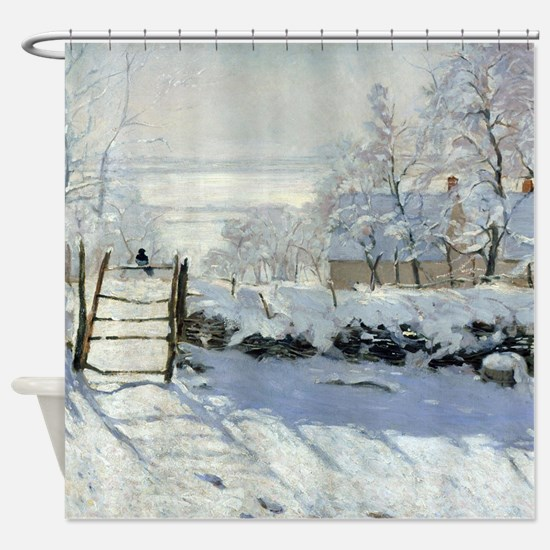 Monet_Magpie Shower Curtain