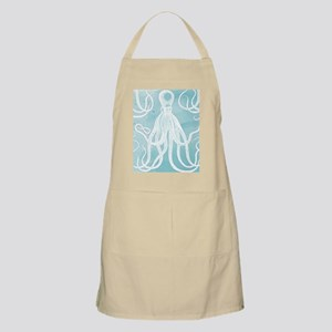 Antique Octopus on Background Apron