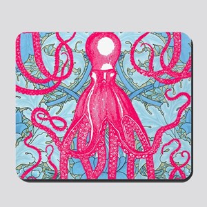 Antique Octopus on Background Mousepad