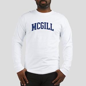 MCGILL design (blue) Long Sleeve T-Shirt