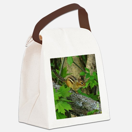 Roaming chipmunk Canvas Lunch Bag