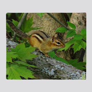 Roaming chipmunk Throw Blanket