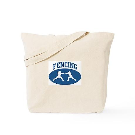Fencing (blue circle) Tote Bag