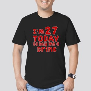 I am 27 today Men's Fitted T-Shirt (dark)