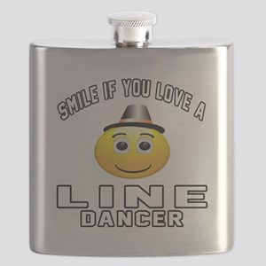 Line Dancer Designs Flask