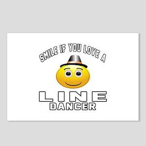 Line Dancer Designs Postcards (Package of 8)