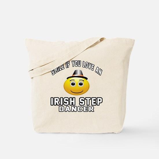 Irish Step Dancer Designs Tote Bag