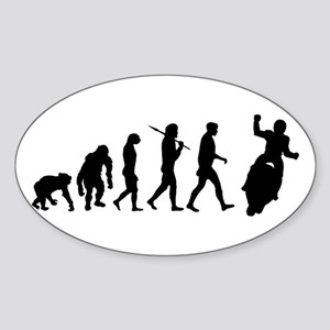 Motorcycle Evolution Sticker (Oval)