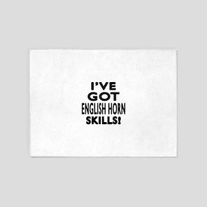 I Have Got English Horn Skills 5'x7'Area Rug