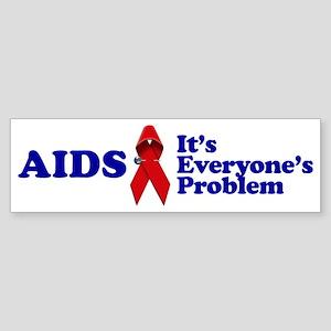 AIDS RIBBON Bumper Sticker