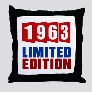 1963 Limited Edition Birthday Throw Pillow