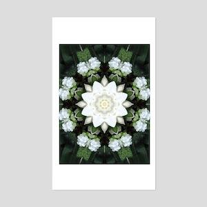 Lotus Mandala Rectangle Sticker