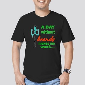 A day without Brandy m Men's Fitted T-Shirt (dark)