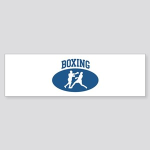 Boxing (blue circle) Bumper Sticker