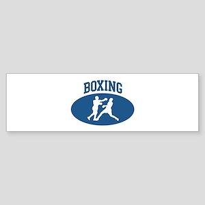 Boxing (blue circle) Bumper Sticker