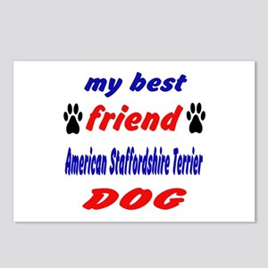 My best friend American S Postcards (Package of 8)