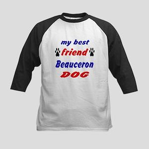 My best friend Beauceron Dog Kids Baseball Jersey