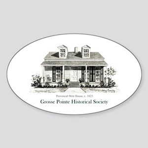 Provencal-Weir Oval Sticker