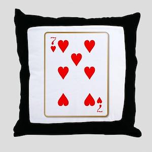 Seven Hearts Throw Pillow
