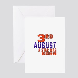 3 August A Star Was Born Greeting Card
