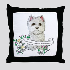 Loyal Westhighland Terrier Throw Pillow