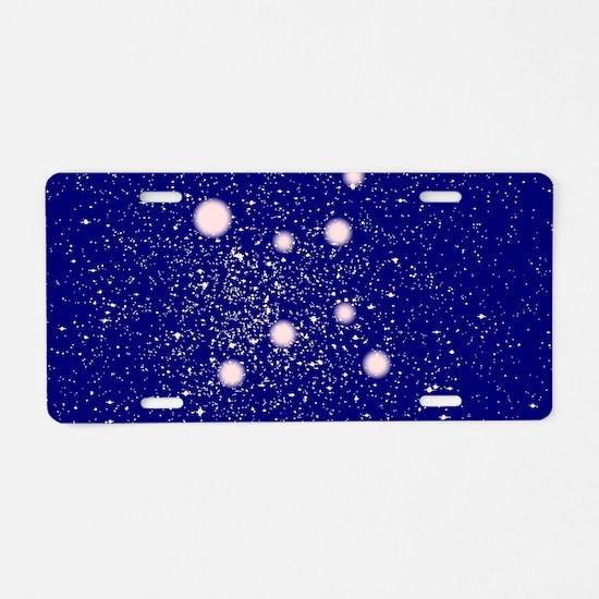 Constellation of Virgo Aluminum License Plate