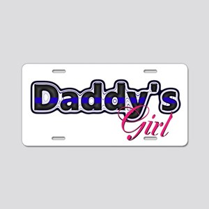 Daddys Girl Police Aluminum License Plate