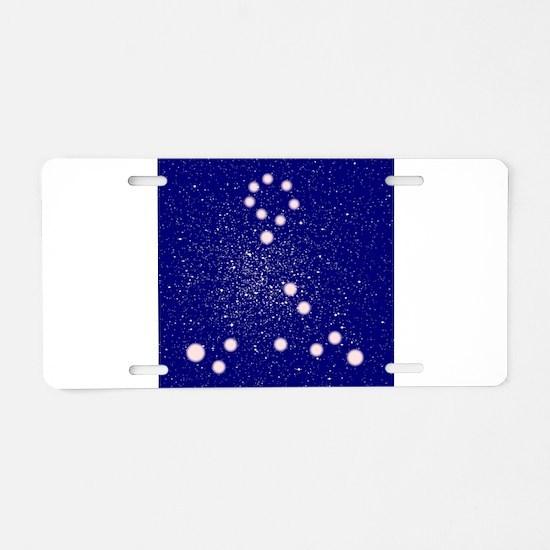 Constelation of Pisces Aluminum License Plate