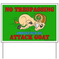Goat No Trespassing Yard Sign