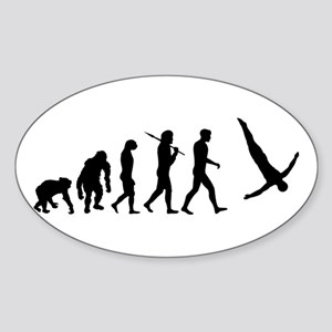 Diving Evolution Sticker (Oval)