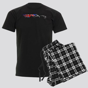 F1 UK White PD Pajamas