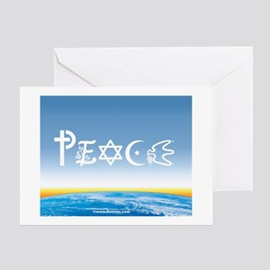 Peace On Earth at Sunrise Greeting Cards