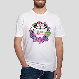 Mele Kalikimaka Santa Fitted T-Shirt