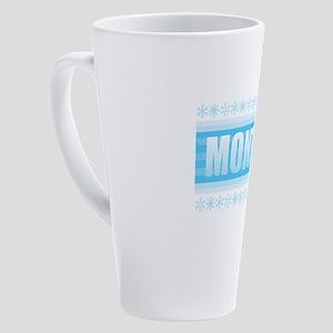 Montana Snow 17 oz Latte Mug