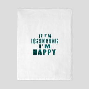 If I Am Cross Country Running Twin Duvet