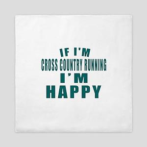 If I Am Cross Country Running Queen Duvet